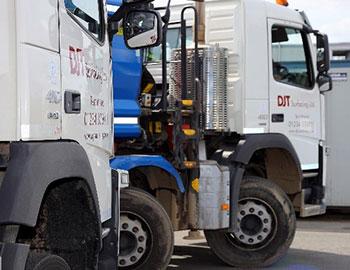 lorry fleet parked in DJT yard